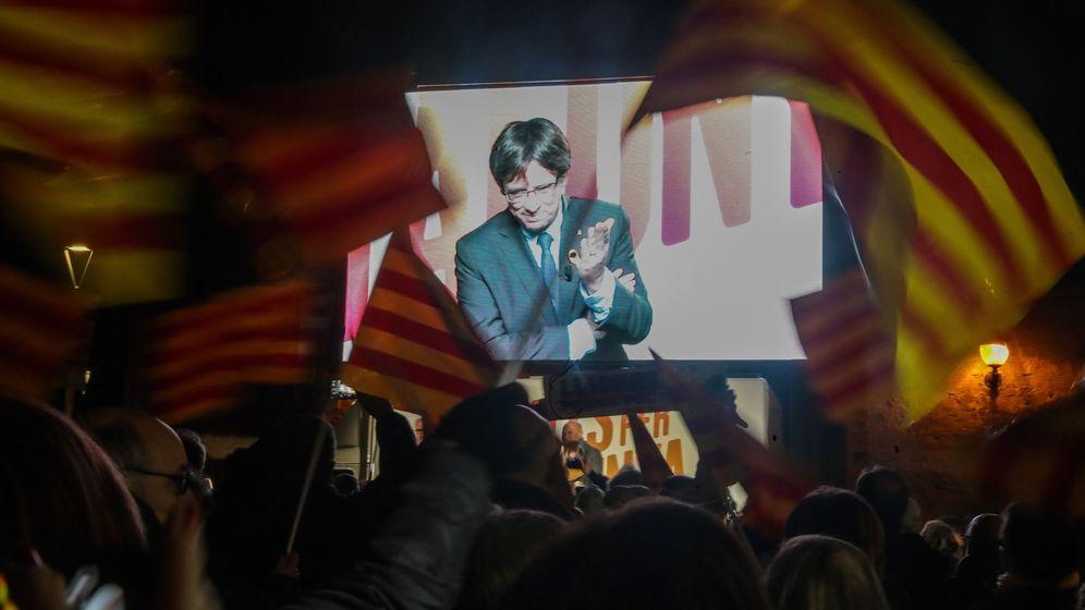 Foto: Acto cierre de campaña Junts per Catalunya en Barcelona. (EFE)