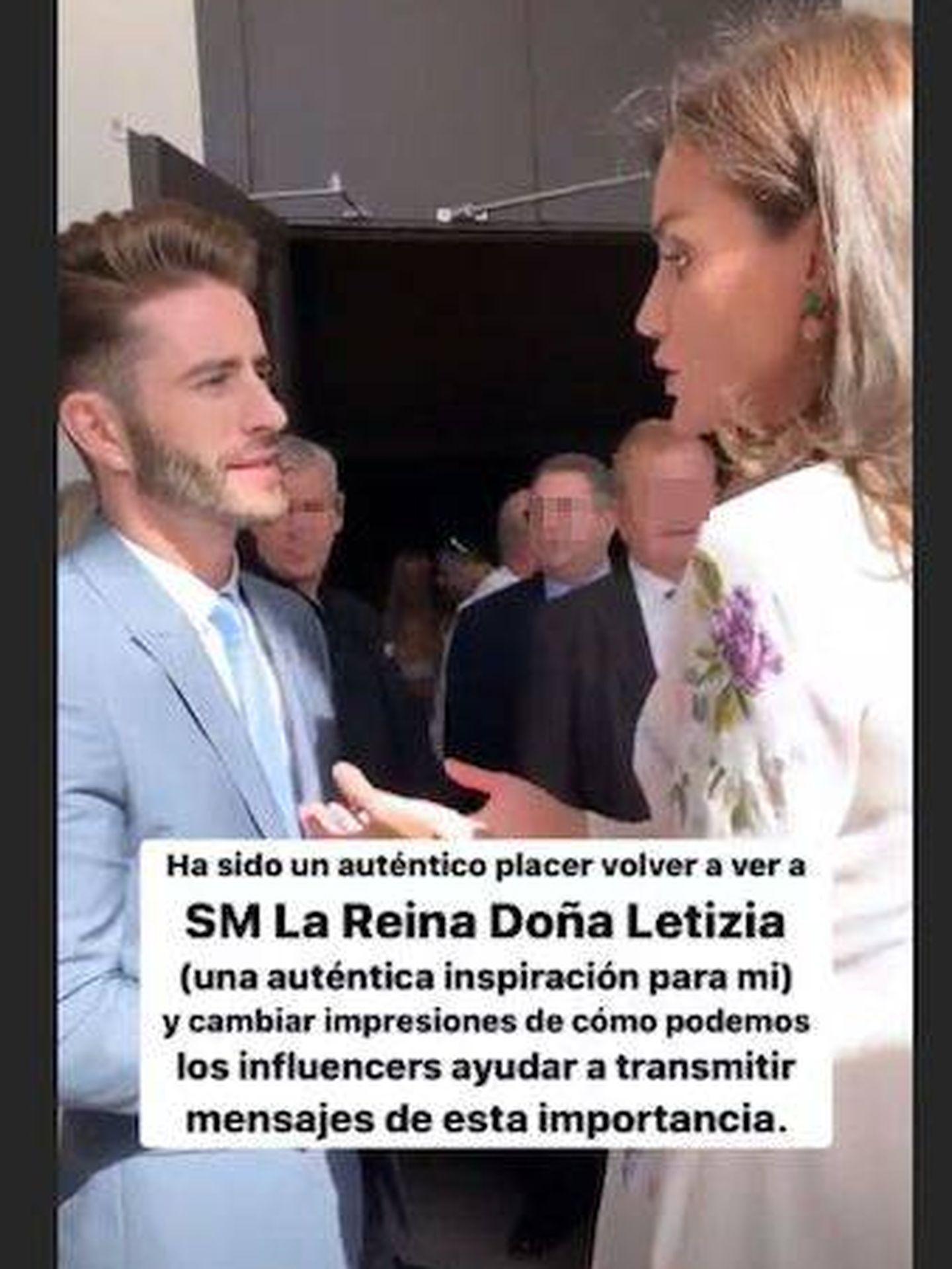 El encuentro de Pelayo y Letizia. (Instagram)