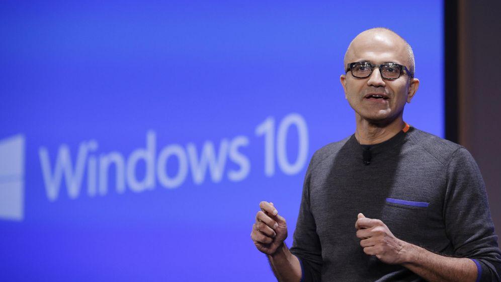 Foto: El CEO de Microsoft, Satya Nadella, durante la presentación de Windows 10 (Fotografía: Reuters)