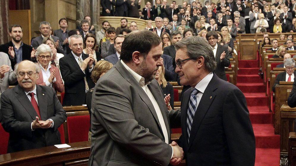 Foto: Carles Puigdemont y Oriol Junqueras en una foto de archivo. (EFE)