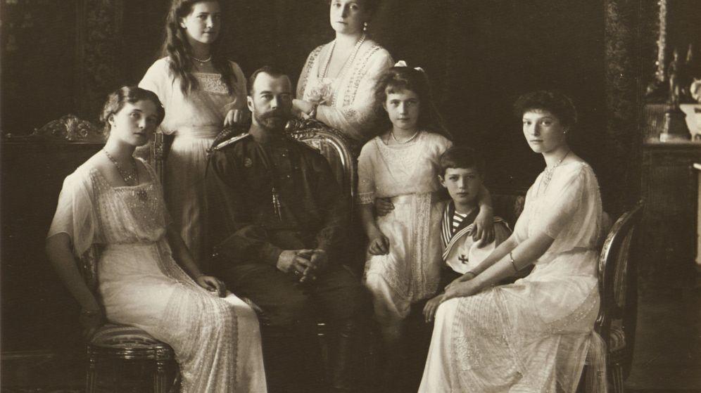 Foto: Una fotografía del zar Nicolás II y su familia