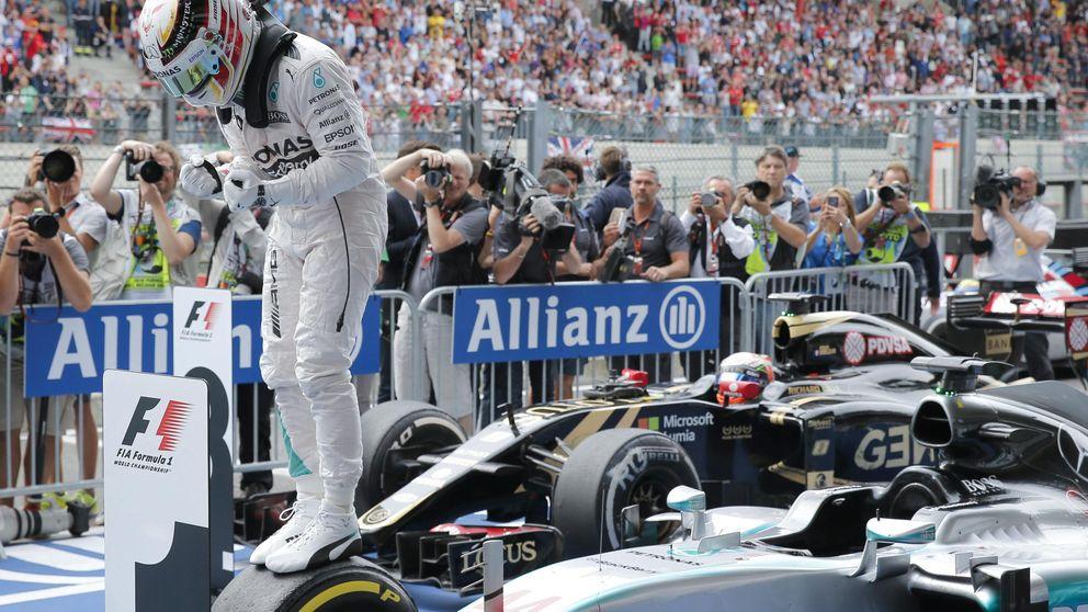 Hamilton, primero, sigue intratable y Alonso, 13º, aburrido en su coche