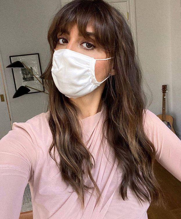 Foto: Violette Serrat, con el maquillaje a prueba de mascarillas. (Instagram @violette_fr)