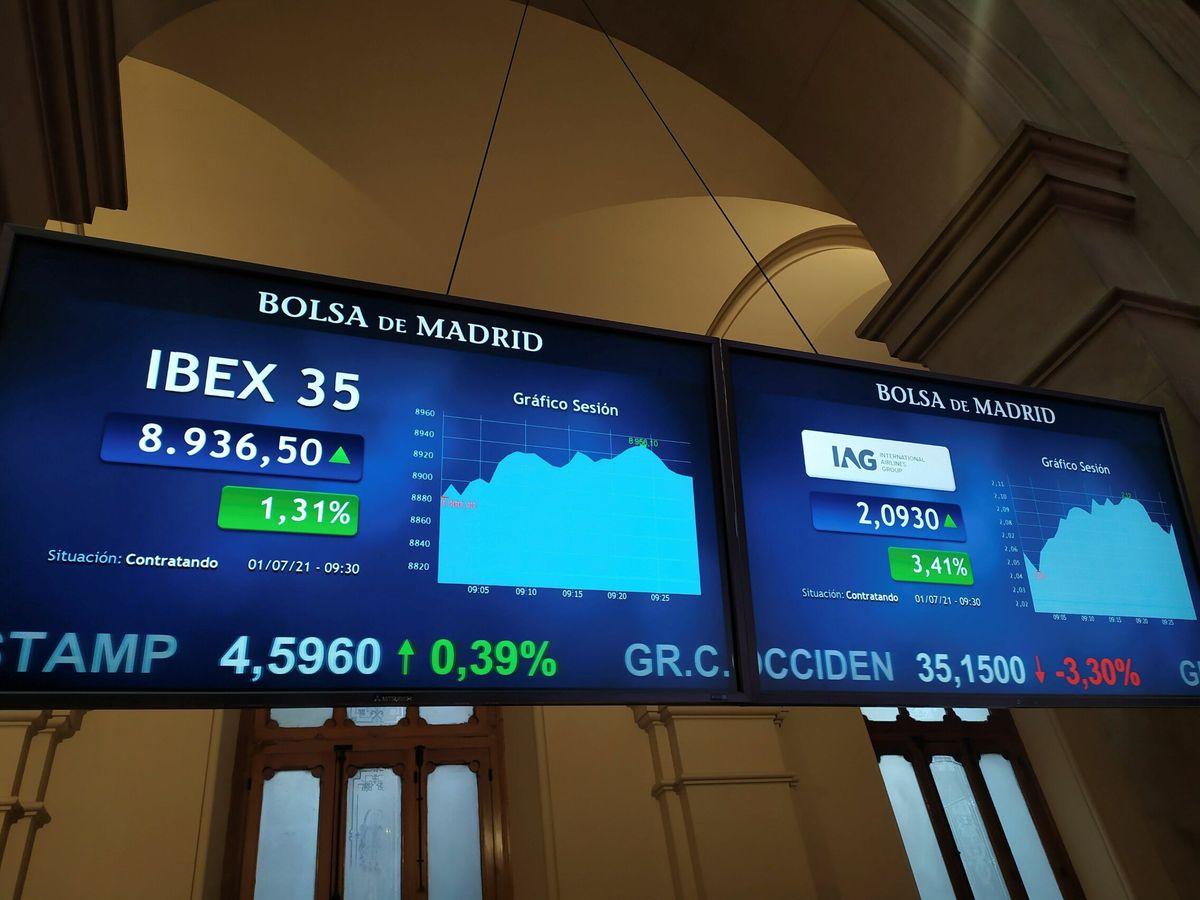 Foto: Ibex 35, el índice de la bolsa de Madrid. (EFE)