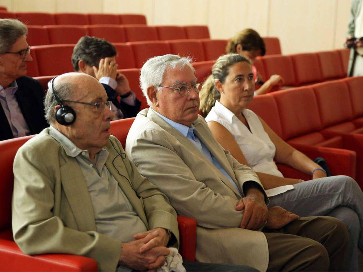 Foto: Fèlix Millet, Jordi Montull y Gemma Montull, durante el juicio del 'caso Palau'. (EFE)
