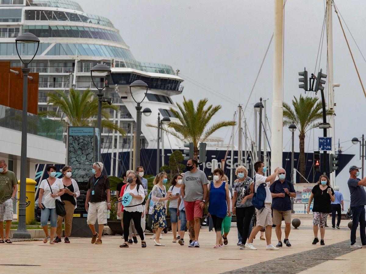 Foto: Cartagena recibe el primer crucero desde marzo de 2020. (EFE)