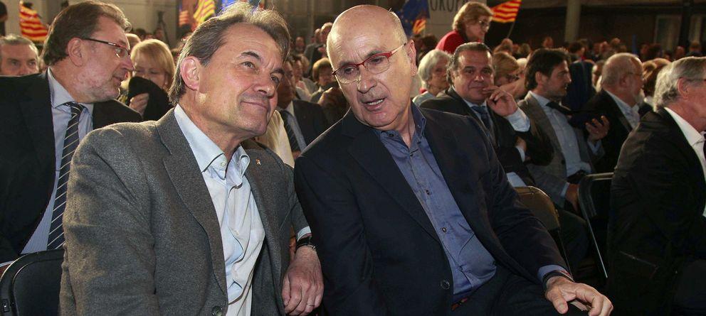 Foto: El presidente de la Generalitat, Artur Mas (i), junto a Duran i Lleida (EFE)