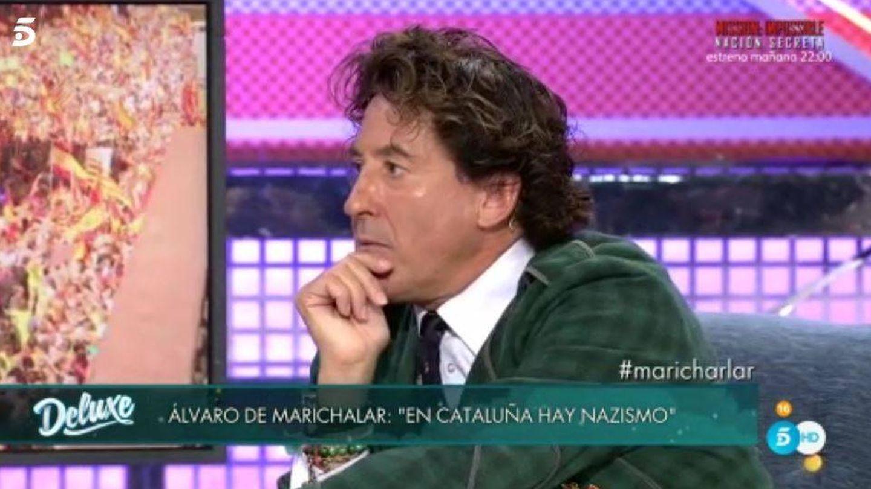 Álvaro de Marichalar responde a Jorge Javier tras echarle del 'Deluxe'.