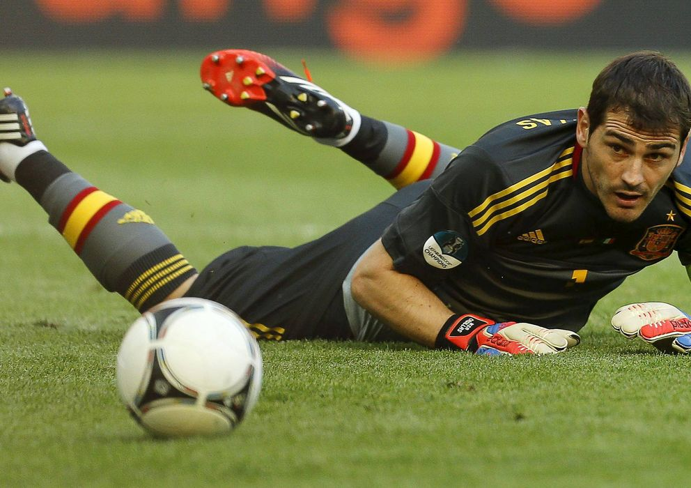 Foto: El guardameta del Real Madrid, Iker Casillas, en un partido con la selección española.