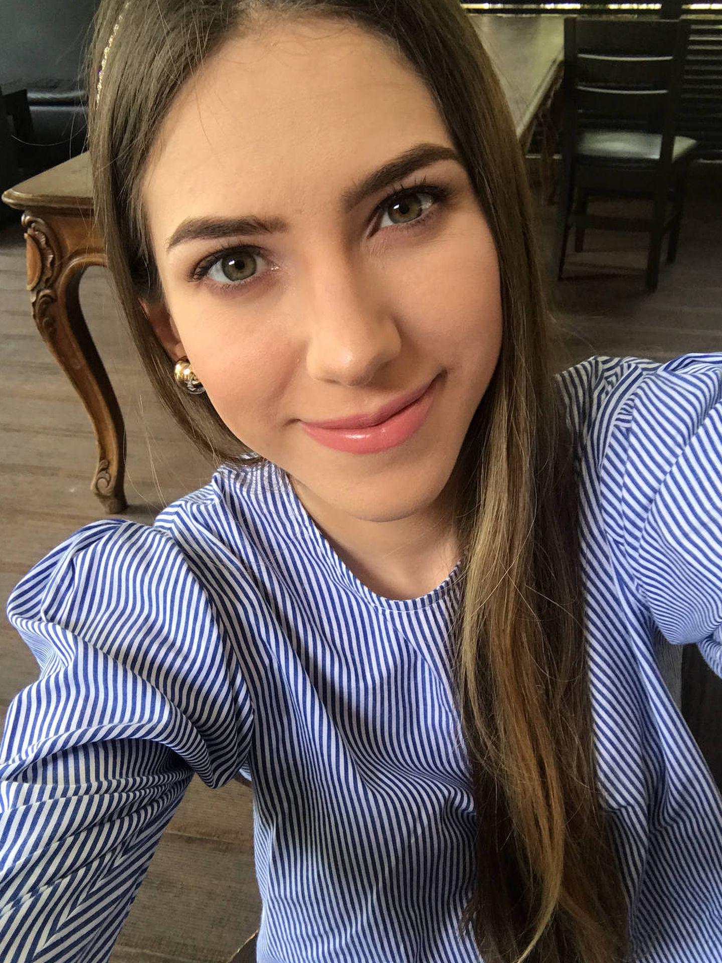 Fabiola en uno de sus selfies de Instagram.