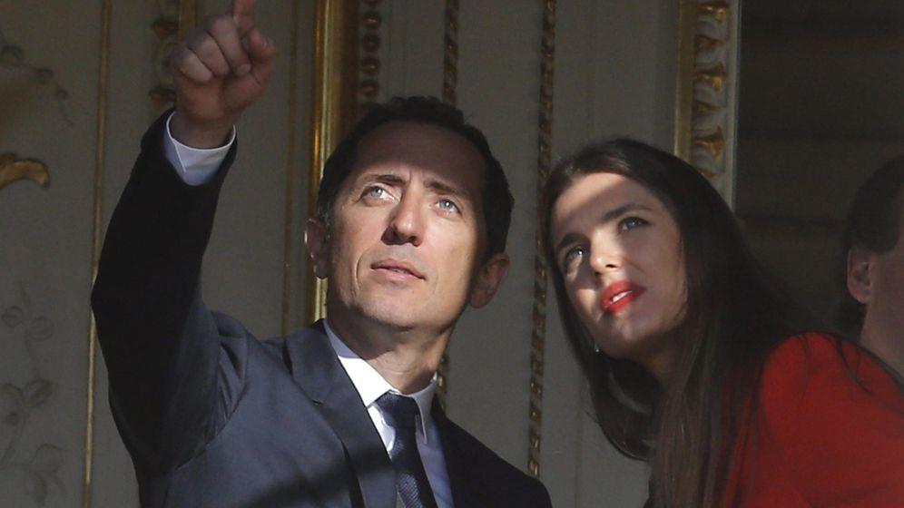 Foto: El actor francés Gad Elmaleh y Carlota Casiraghi, en una foto de archivo. (EFE)