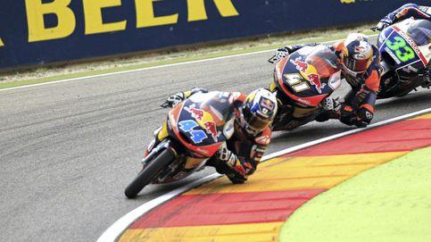 El portugués Miguel Oliveira se impone en un final accidentado de Moto3