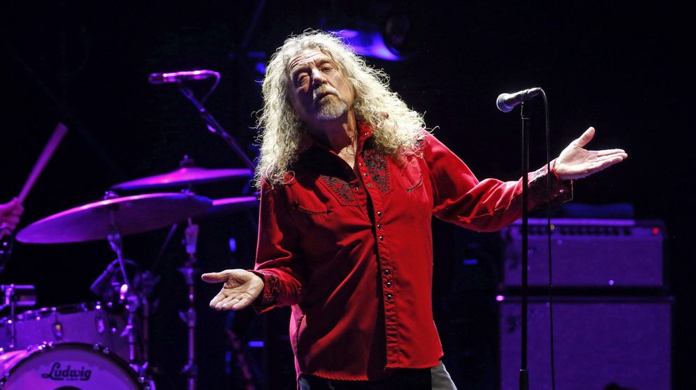 Foto: Robert Plant, este jueves, en las Noches del Botánico.