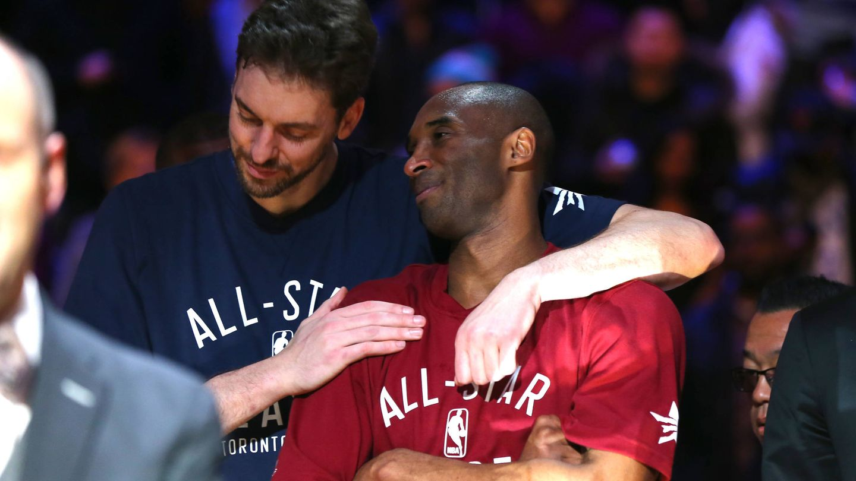 Pau y Kobe en el All-Star. (Getty)
