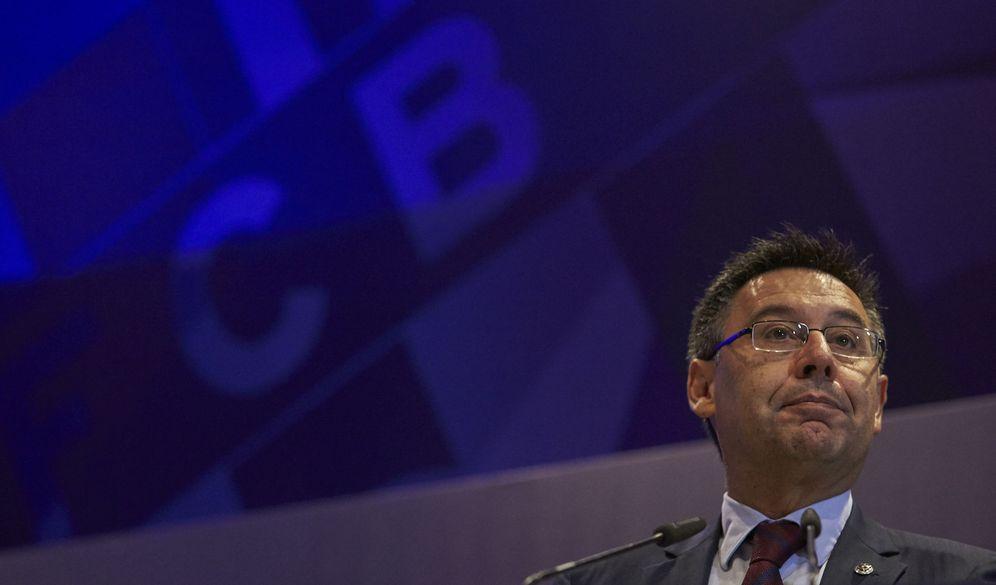 Foto: Josep Maria Bartomeu cada día que pasa es más cuestionado como presidente del Barcelona. (EFE)