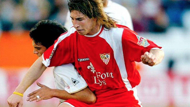 Sergio Ramos en su etapa de jugador del Sevilla