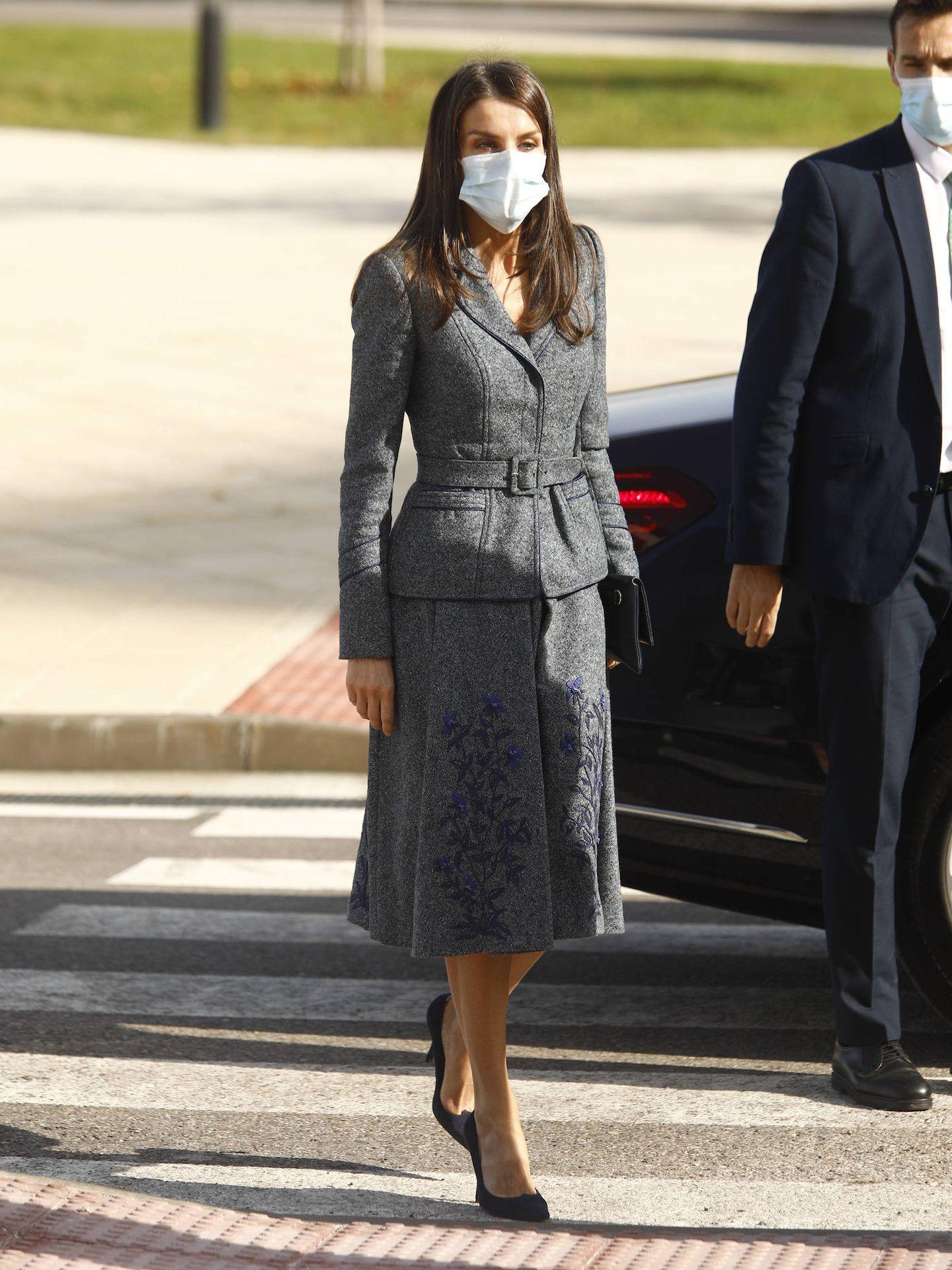 La Reina, a su llegada a Toledo. (LP)