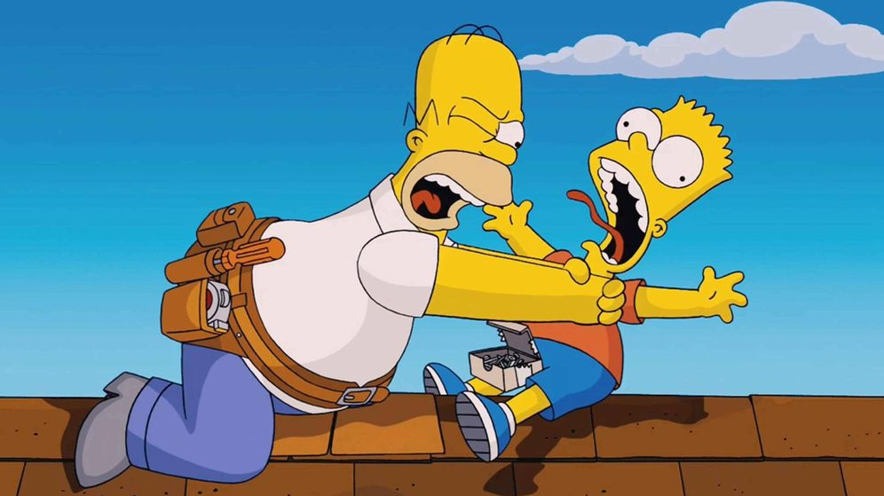 Foto: Homer y Bart Simpson. (Fox)