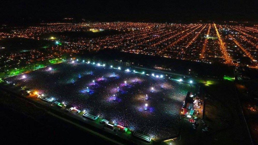 Foto: Vista del concierto. (@xbrxnx)