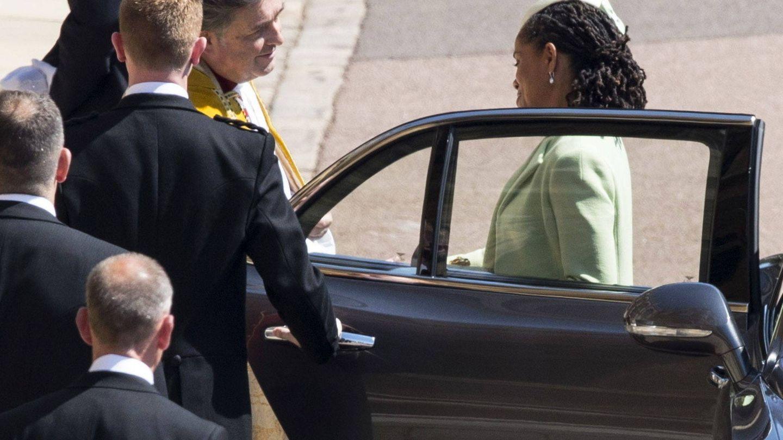 Doria, llegando a la boda de su hija. (EFE)