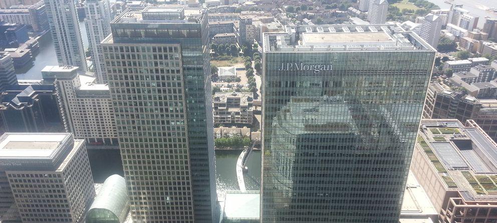 Foto: Magee saltó desde este la sede londinense de J.P. Morgen el pasado 28 de enero. (CC/Danesman1)