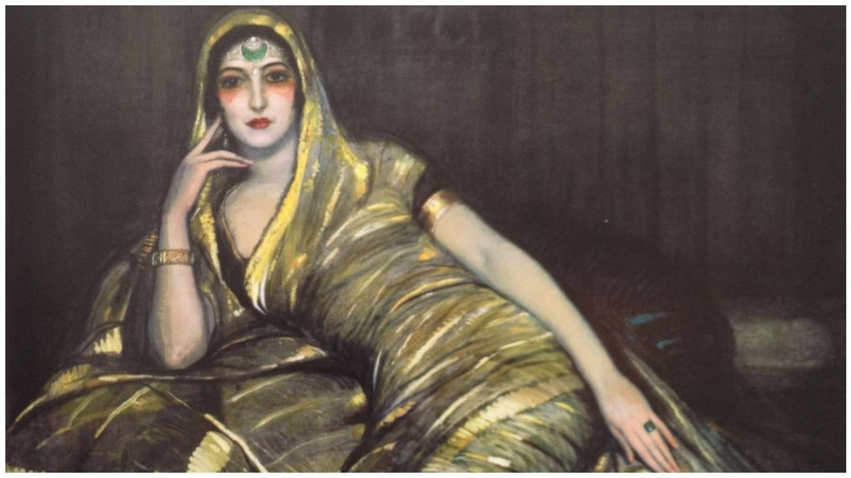 Retrato de Anita Delgado Briones, maharaní de Kapurthala, en 1919, de Federico Beltrán. (Museo de Málaga)