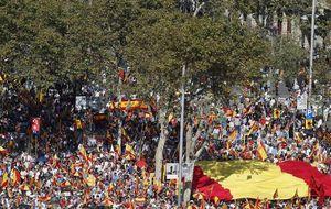 Los antiindependentistas 'llenan' Barcelona para denunciar 'el proceso'