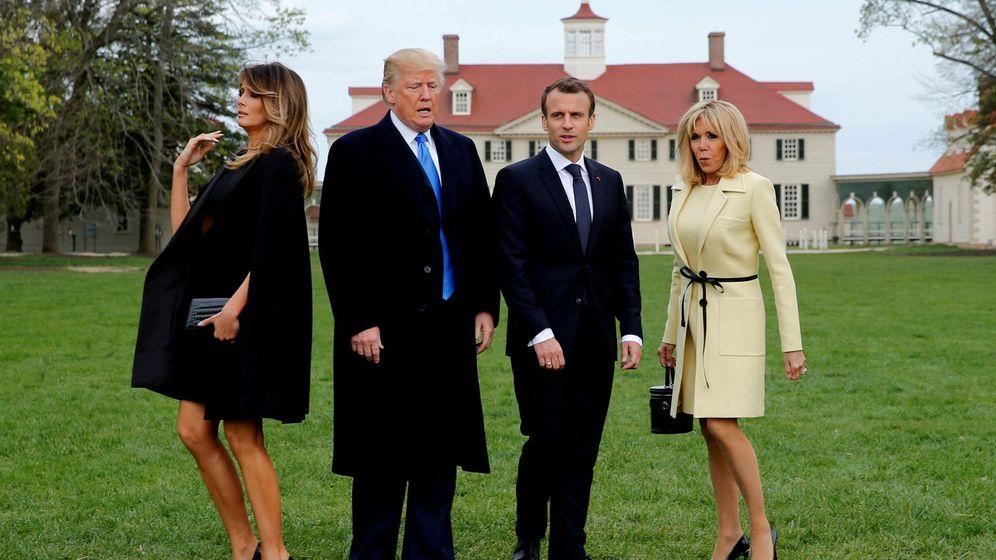 Foto: Visita oficial de Emmanuel Macron a EEUU en abril de 2018