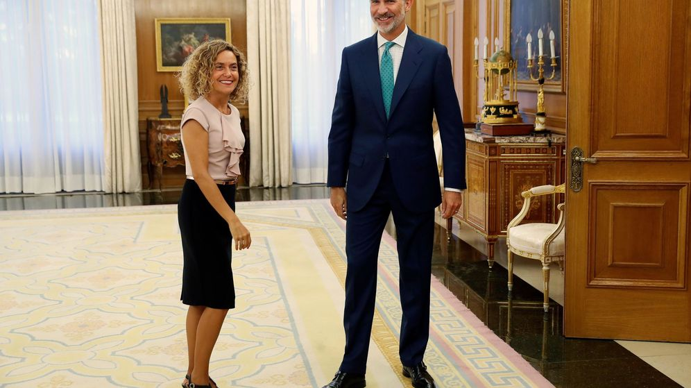 Foto: El rey Felipe VI recibe este jueves a la presidenta del Congreso, Meritxell Batet. (EFE)