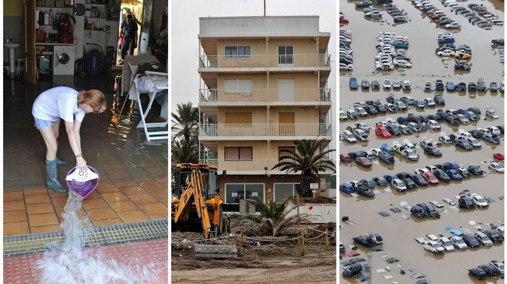 Foto: Imágenes de las inundaciones de los últimos años en el Mediterráneo. (El Confidencial)