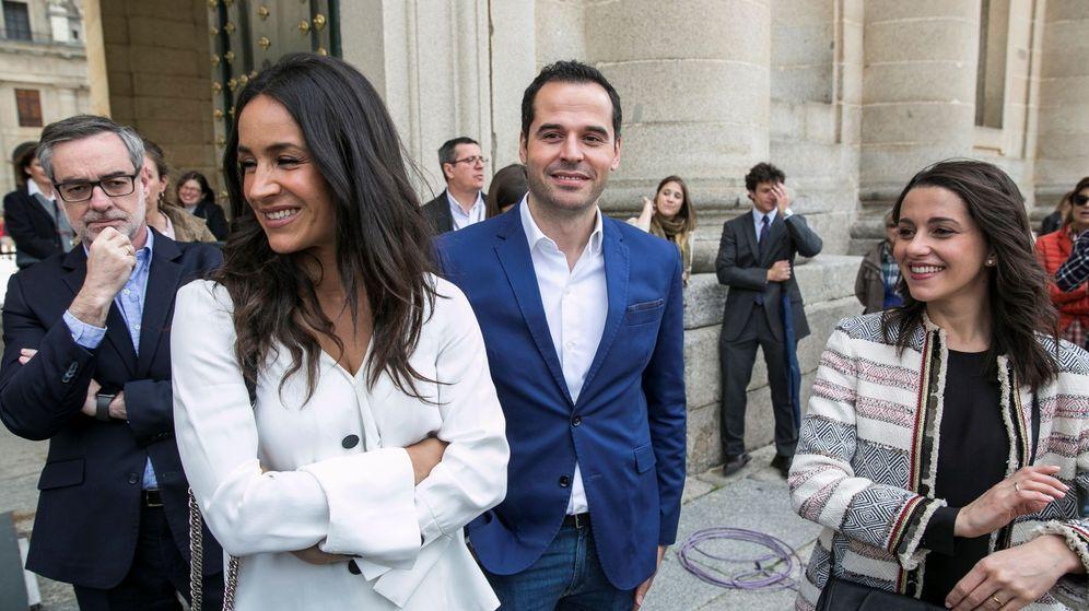 Foto: José Manuel Villegas, Begoña Villacís, Ignacio Aguado e Inés Arrimadas. (EFE)