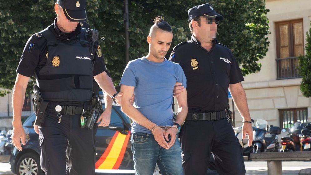 Foto: Cristóbal C.A. en el momento de ser llevado ante el juez
