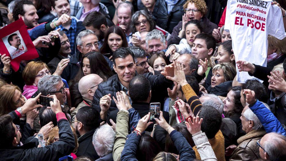 Foto: Sánchez, el pasado sábado, en Xirivella, el punto de partida de su reconquista del PSOE. (EFE)