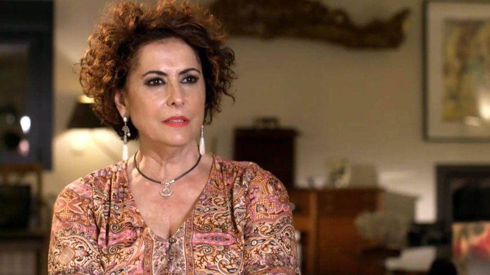 Foto: Irma Soriano, en 'Ven a cenar conmigo'. (Telecinco)