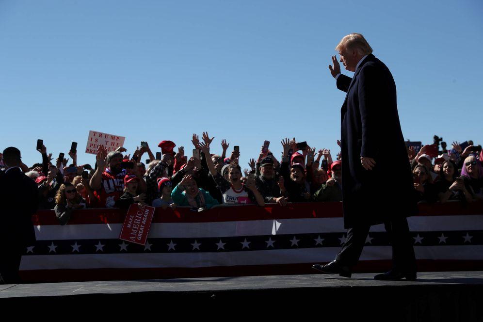 Foto: Donald Trump, durante un mitin de campaña en el Elko Regional Airport, Nevada. (Reuters)