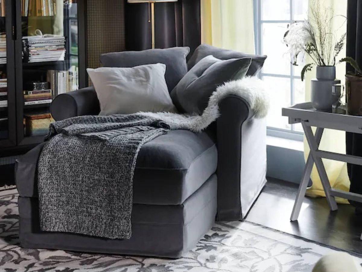 Foto: Chaise longue de Ikea para tu rincón de descanso. (Cortesía)