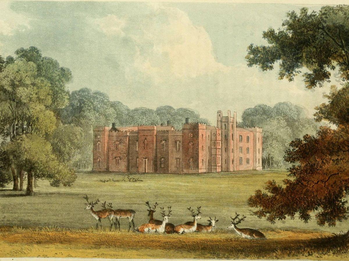 Foto: Representación de Belhus Park de 1826 (Creative Commons)