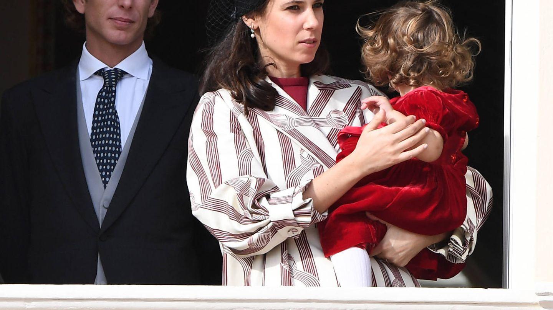 Andrea y Tatiana, con su hija India en el Día Nacional de Mónaco de 2016. (Getty)