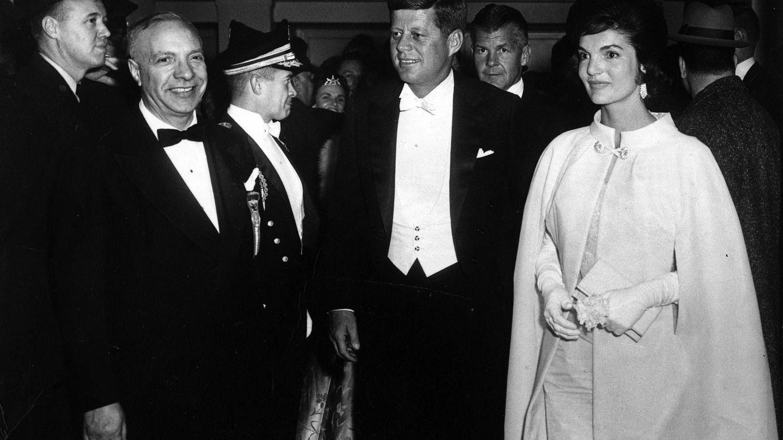 La pareja, en una imagen de 1961. (Getty)