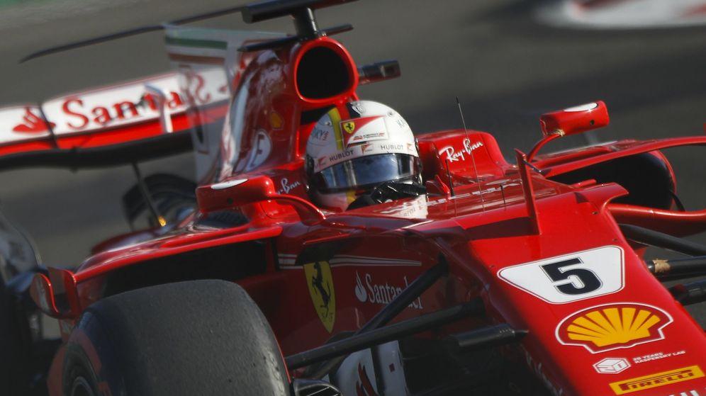 Foto: Vettel, durante el Gran Premio de Azerbaiyán. (EFE)