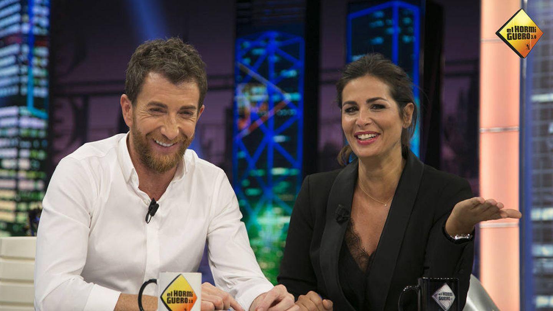 Nuria Roca hablando de su relación abierta en 'El hormiguero'.