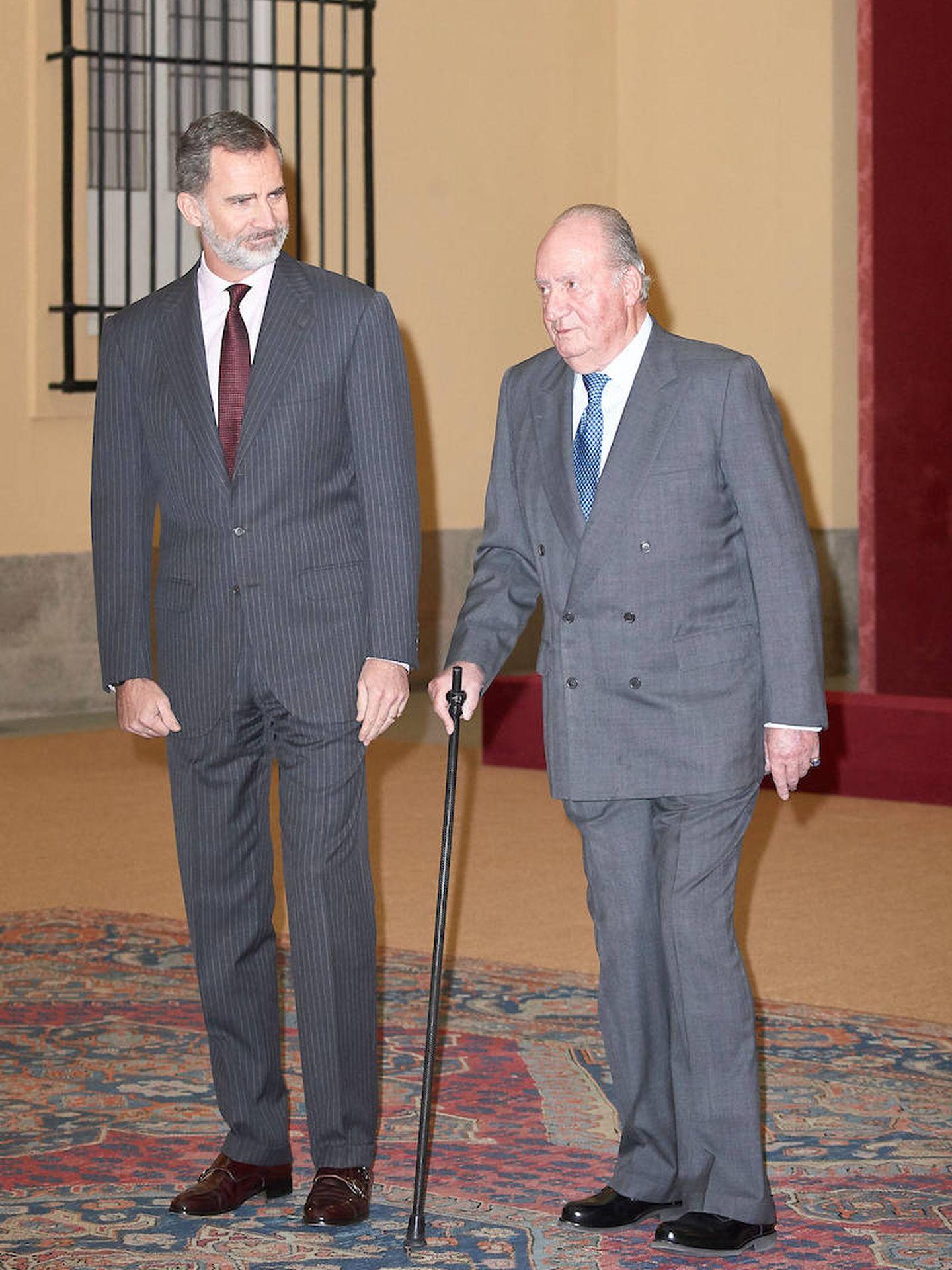 El rey Felipe VI y el rey Juan Carlos I. (Limited Pictures)