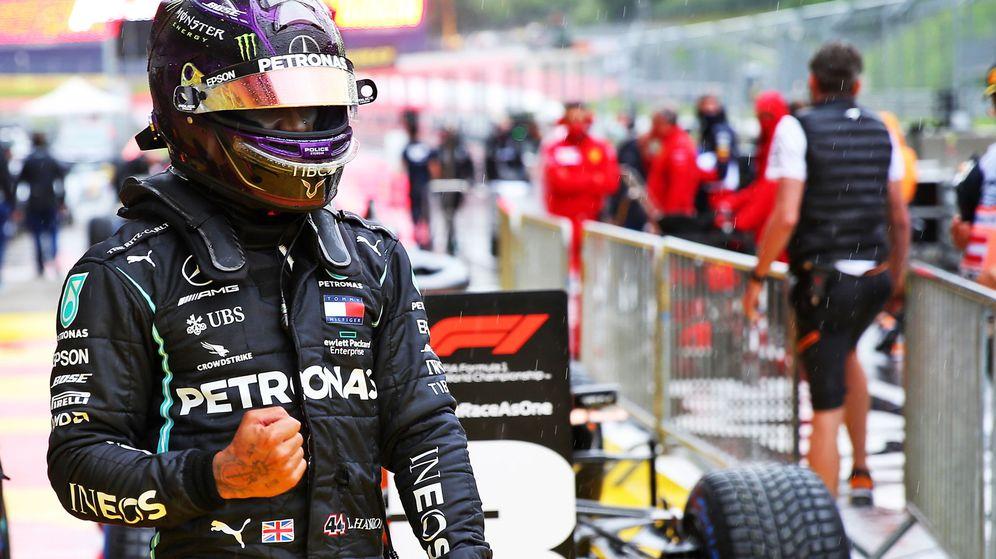 Foto: Lewis Hamilton ganó la batalla a Max Verstappen. (Getty Images) (