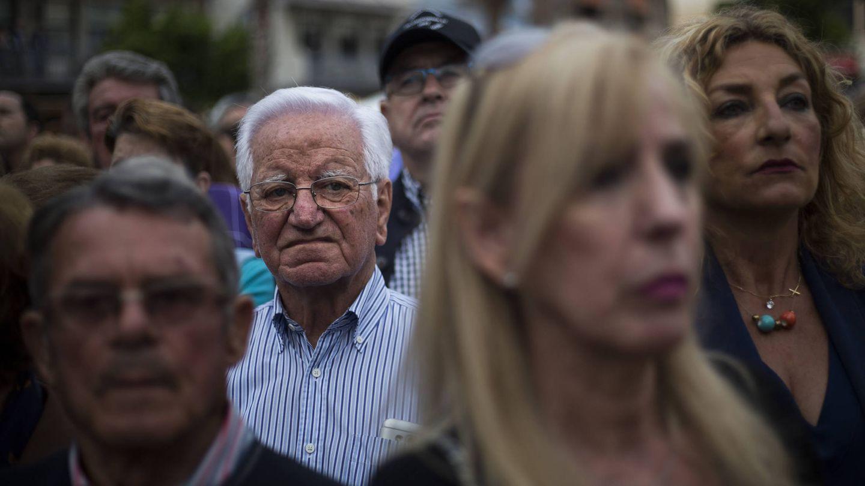 Una imagen de la concentración en la plaza Alta de Algeciras.