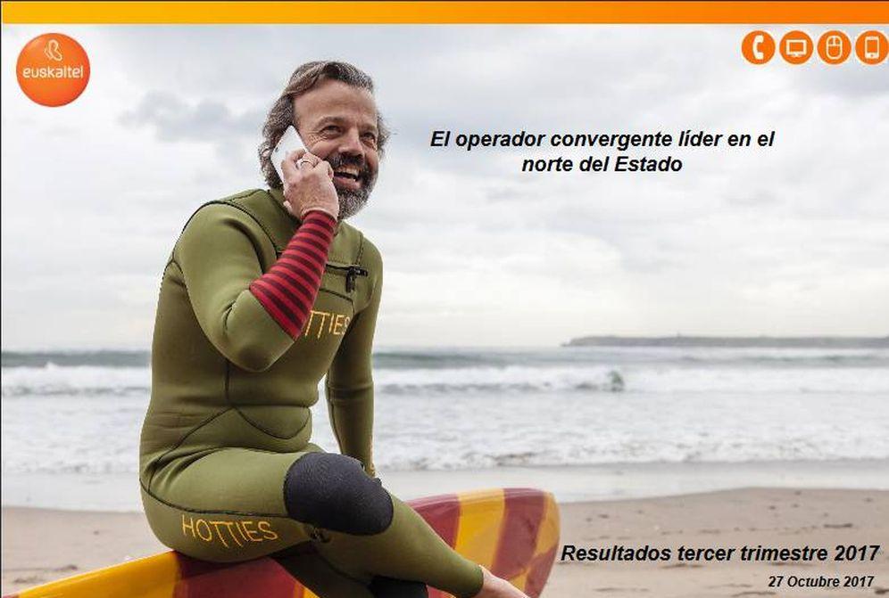 Foto: Primera diapositiva mostrada por Euskaltel en su presentación de resultados del tercer trimestre enviada a la CNMV. (Euskaltel)