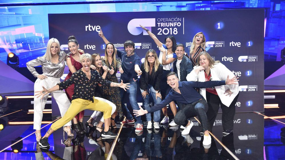 Foto: Los profesores de 'OT 2018'. (RTVE)