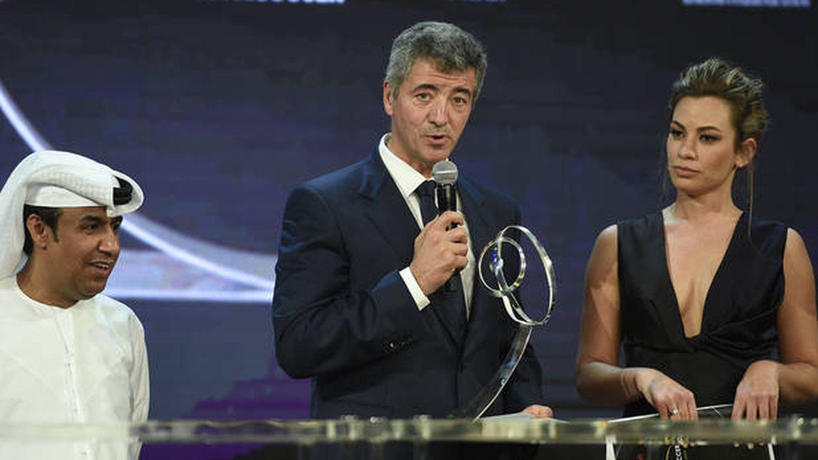 Foto: Miguel Ángel Gil, CEO del Atlético de Madrid, en una reciente entrega de premios en Dubái. (Reuters)