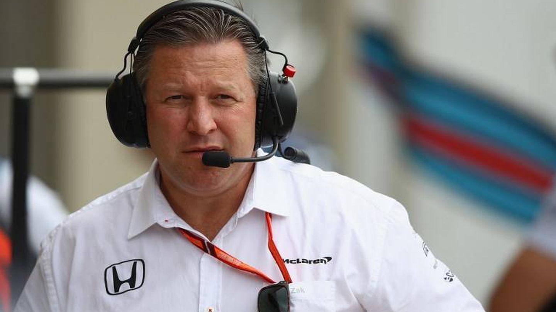 Zak Brown, la persona que tiene que reflotar a la escudería McLaren. (AFP)