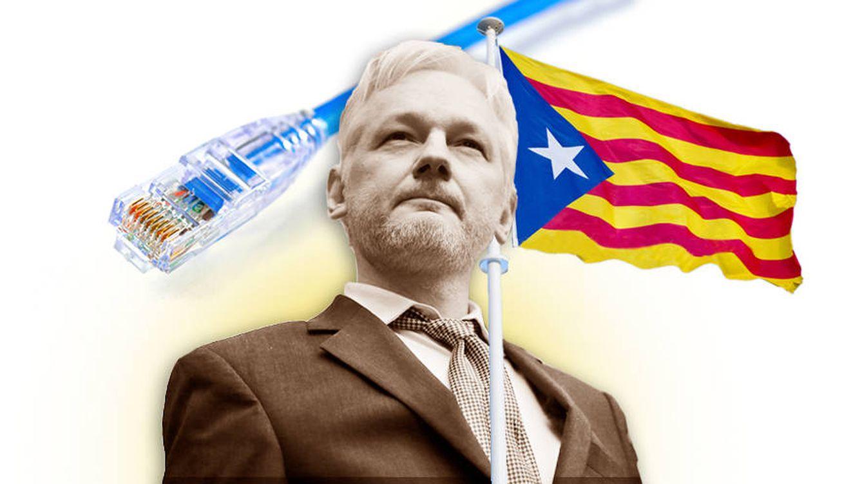Assange y Snowden, entre los tuiteros más influyentes sobre referéndum catalán