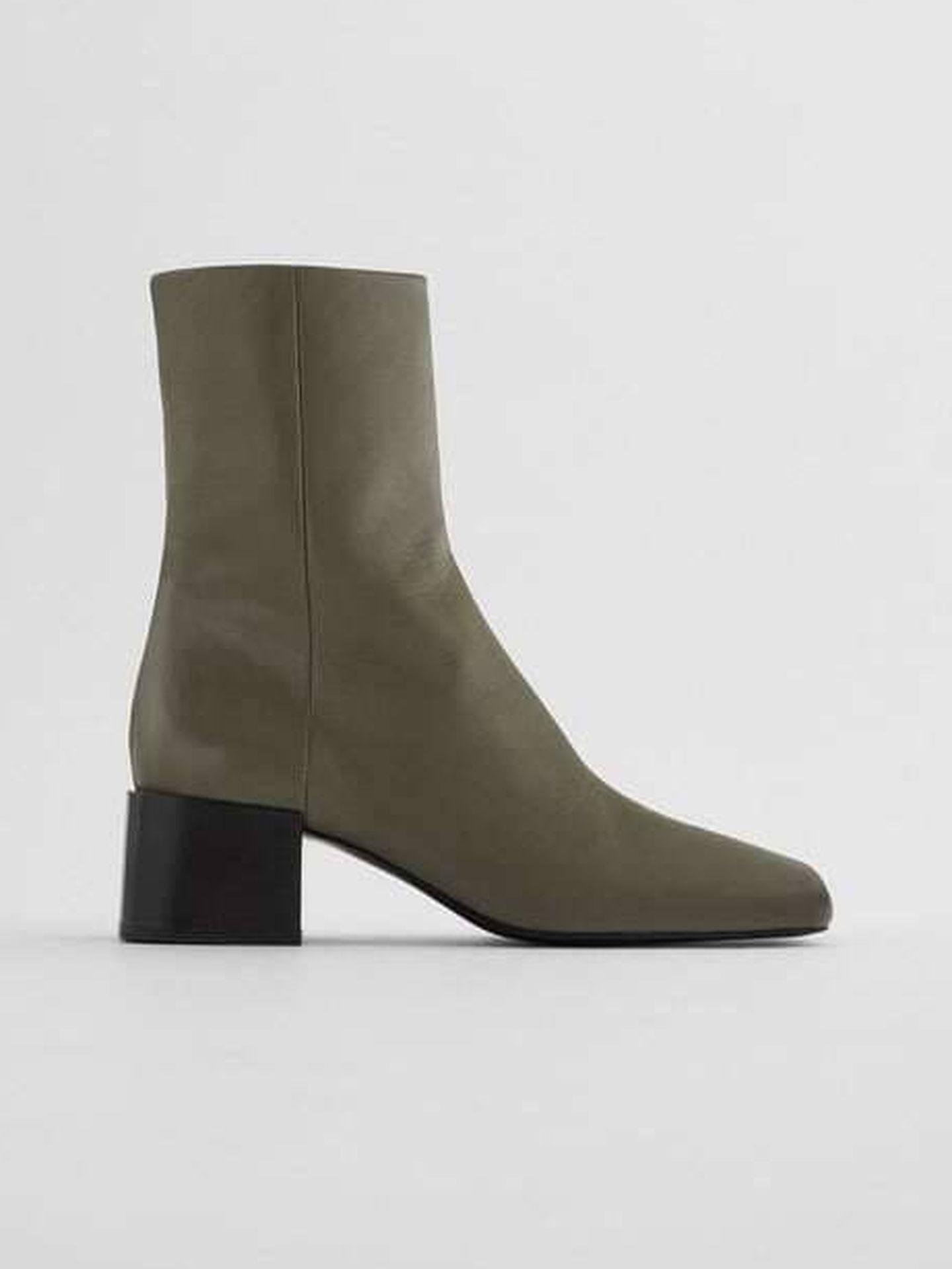Los nuevos botines de Zara. (Cortesía)
